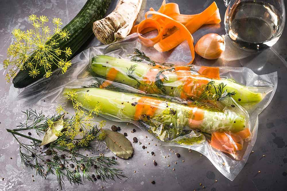 Légumes dans sac alimentaire